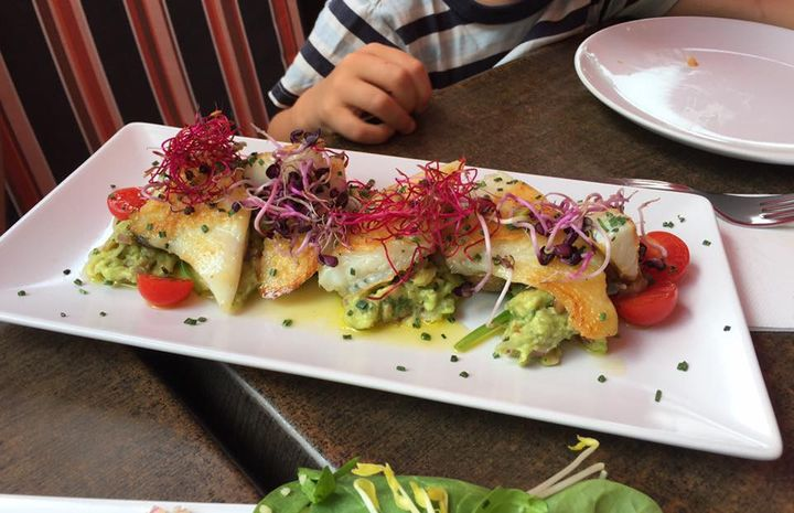 Das nän ich mal es vernünftigs Zmittag. Danke em Koch vom Casa de Sa Miranda in Valldemossa!  https://www.tripadvisor.de/Restaurant_Review-g580319-d3506022-Reviews-Casa_de_Sa_Miranda-Valldemossa_Majorca_Balearic_Islands.html